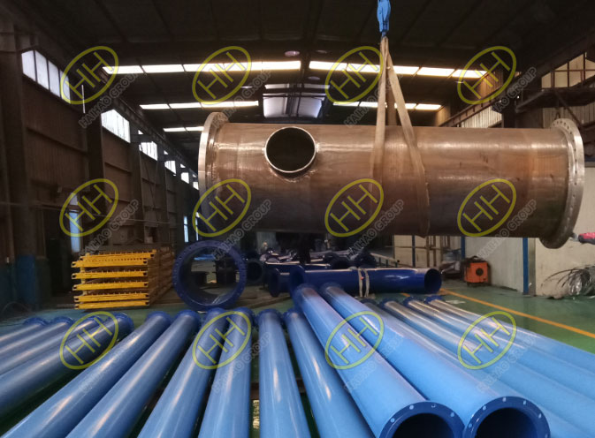 Pipe spools with FBE coating manufactured in Haihao Group
