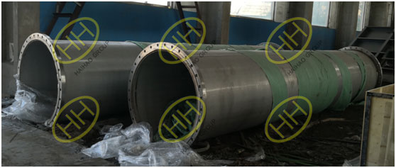 Haihao Group perform PMI testing for flanged pipe